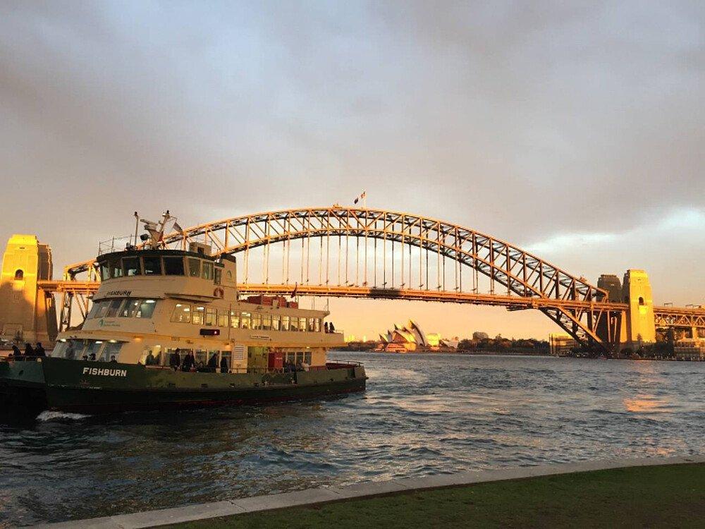 Sydney Brücke im Hafen - Gastsemester Australien