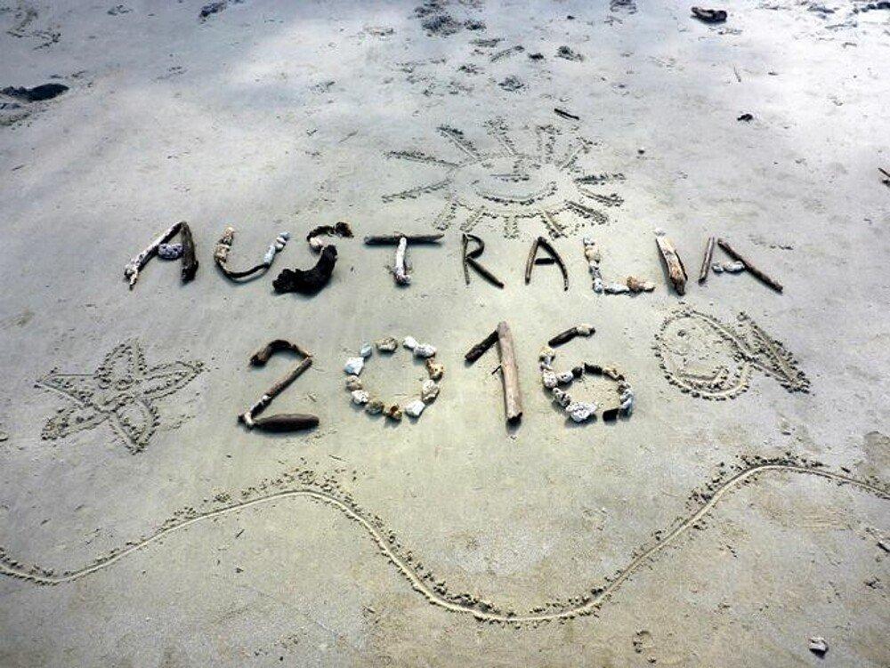 Strandkunst Australien