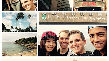 Collage Studium an der University of Technology Sydney