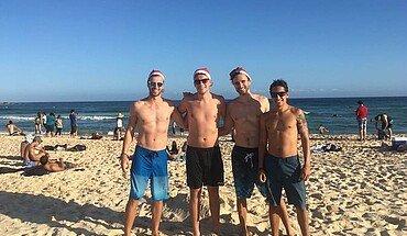 Studenten am Bondi Beach