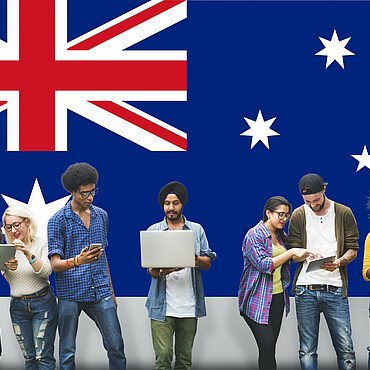 Bachelor Studenten in Australien