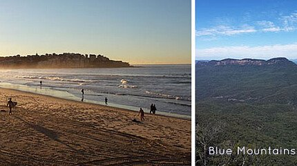 Bondi Beach und Blue Mountains