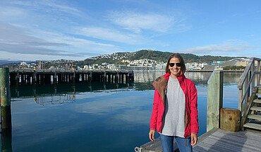 Studentin in Neuseeland