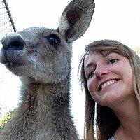 Studentin und Känguruh