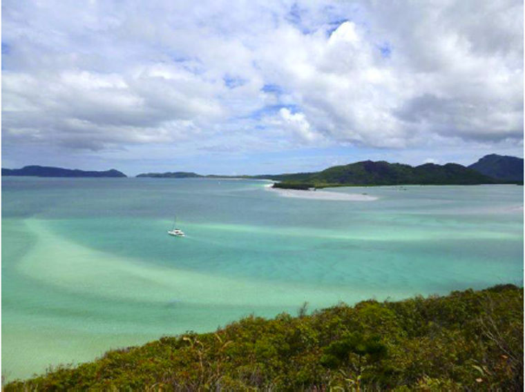 Blick auf den Whitehaven Beach - Whitsunday Island