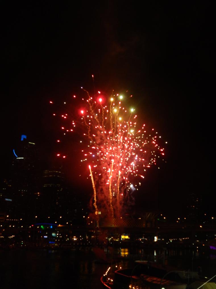 Darling Hafen Feuerwerk - Auslandssemester Australien