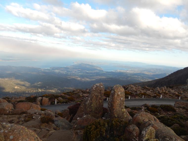 Blick von der Spitze Mount Wellington - Auslandssemester Australien