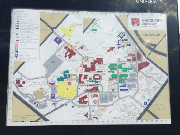 Campus Karte Macquarie University