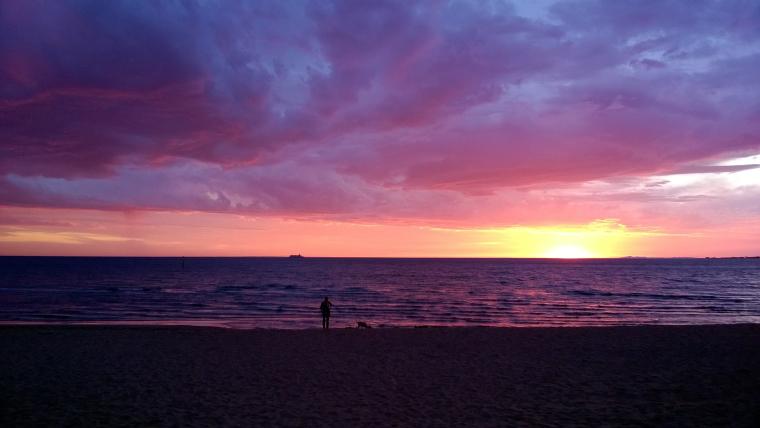 Sonnenuntergang am Strand - Australien