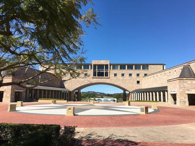 Sonniger Campus in Australien