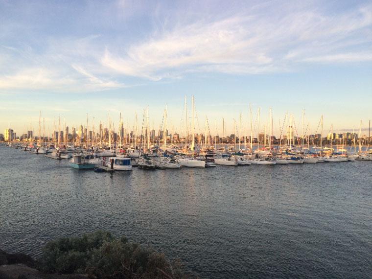 Der Hafen in Melbourne