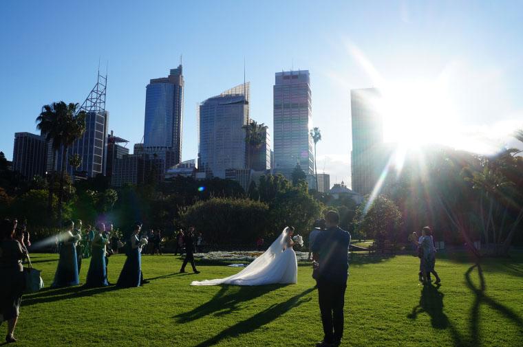Hochzeit im botanischen Garten - Auslandssemester Australien