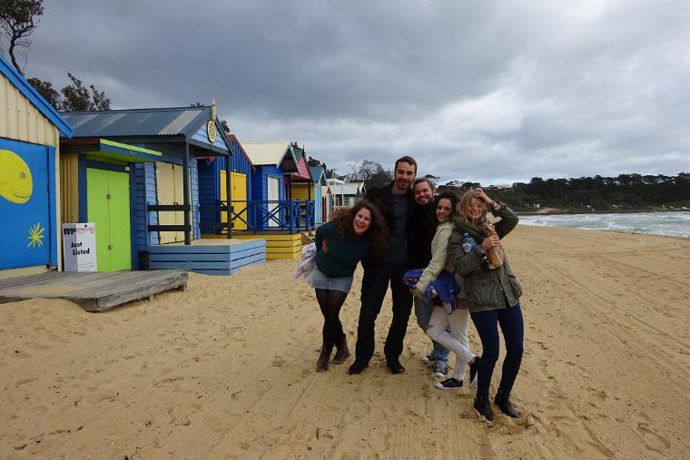 Mit Freunden am Strand