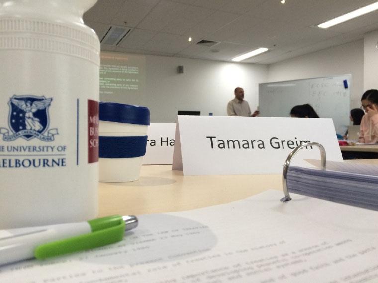 Seminar an der University of Melbourne
