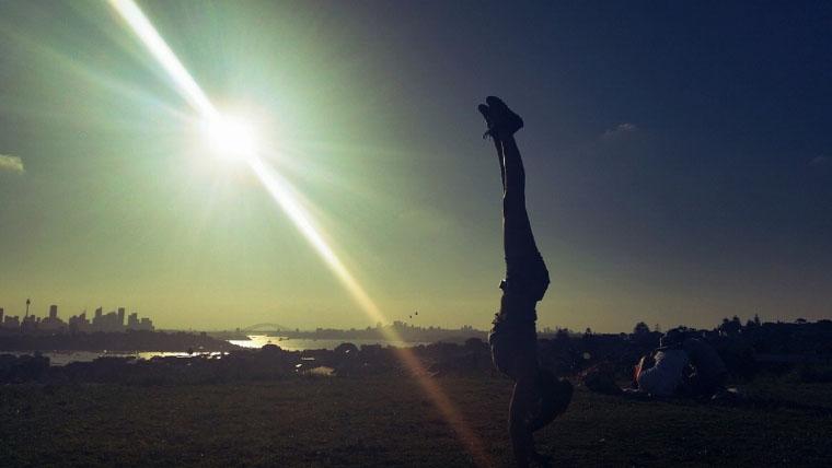 Handstand in Sydney