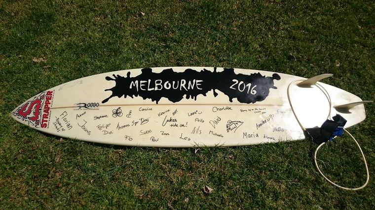 Surfbrett Auslandssemester in Australien