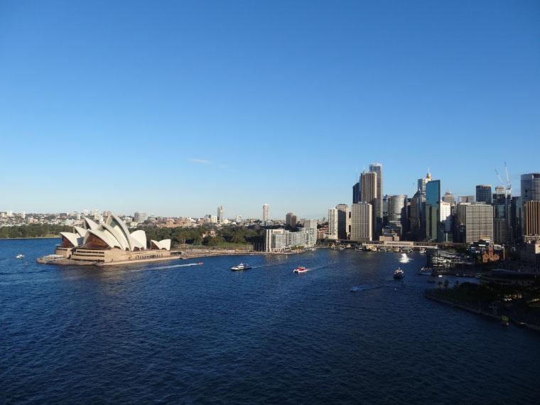 Ausblick von der Harbour Bridge - Masterstudium in Australien