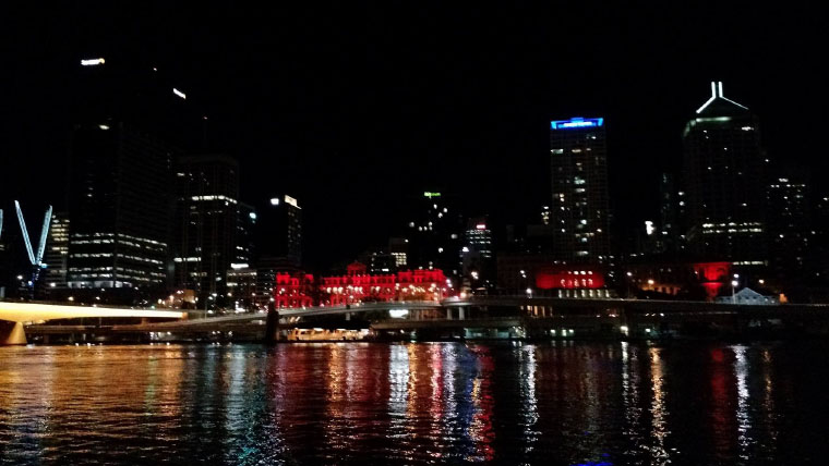 Stadtlichter bei Nacht