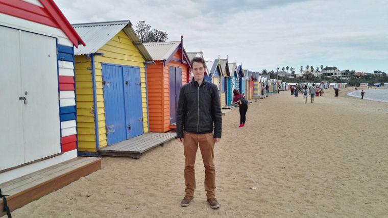 Bunte Strandhäuschen