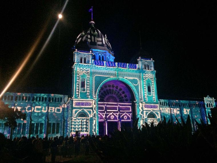 Royal Exhibition Building während White Night
