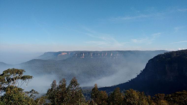 Nebel in den Bergen Australiens