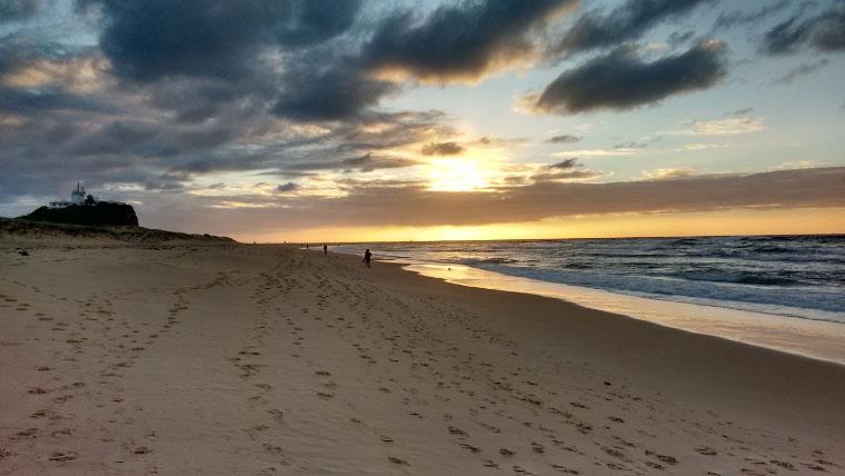 Sonnenuntergang am Strand