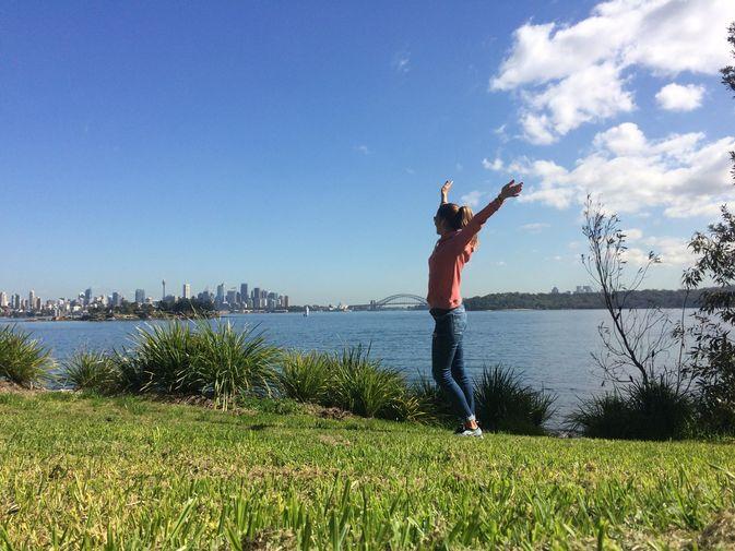 Studentin in Australien