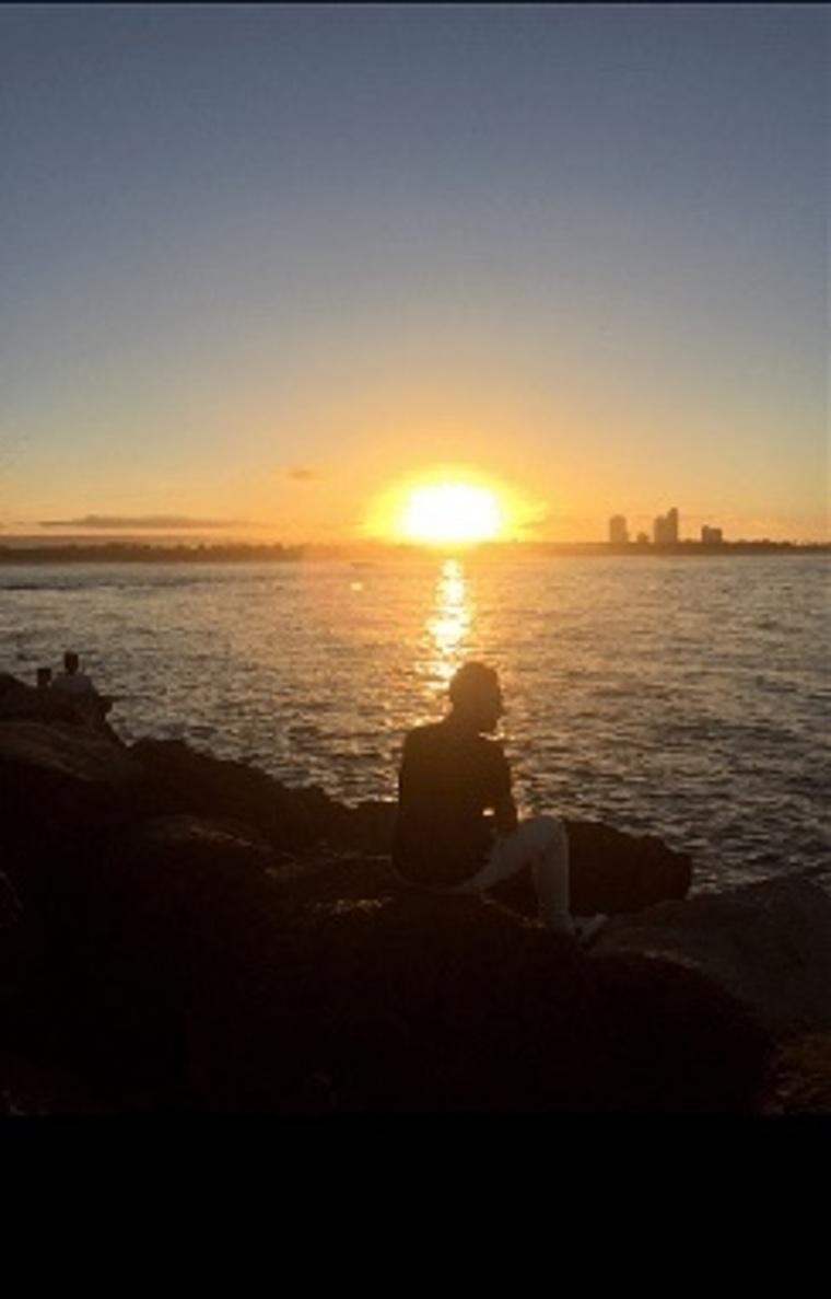 Sonnenuntergang Auslandssemester Australien