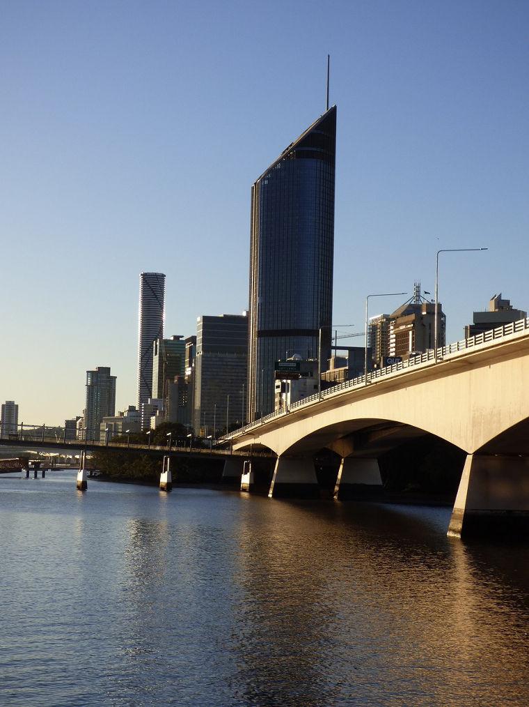 Ein Teil der Skyline von Brisbane