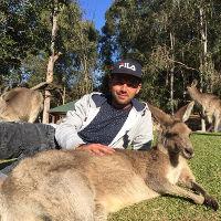 Student mit Känguru