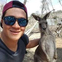 Gaulke und Kangaroo in Australien