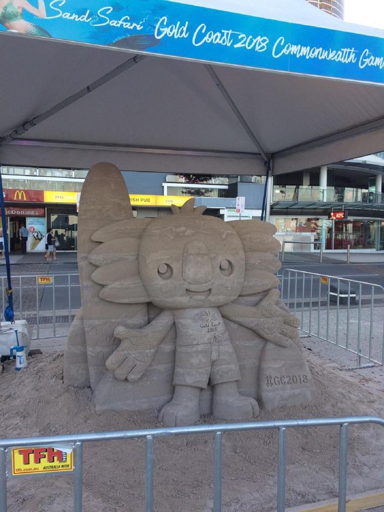 Erfahrungsbericht Overoedder Sandskulptur Commonwealth Games