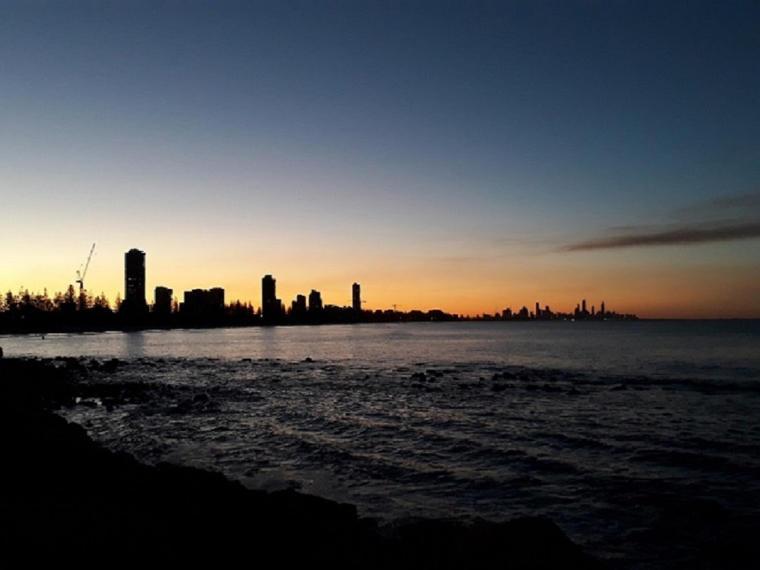 Erfahrungsbericht Overoedder Skyline Sonnenuntergang