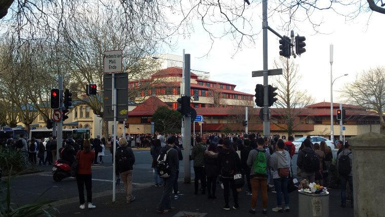 Massenwanderung der Studenten